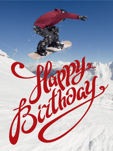 Feel The Winter Happy Birthday Card Birthday Amp Greeting Cards By Davia