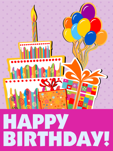 Let's Have Fun! Happy Birthday Cards For Kids Birthday