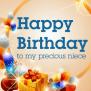 To My Precious Niece Happy Birthday Card Birthday
