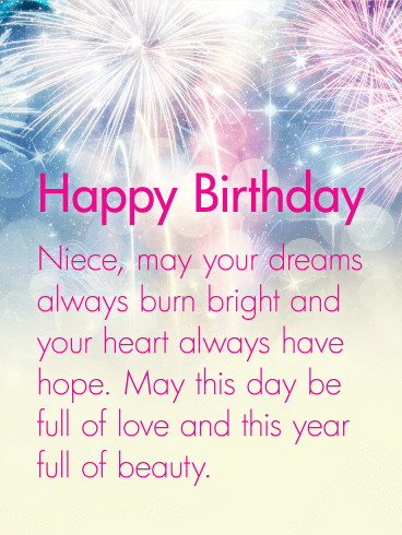 Your Heart Always Have Hope Happy Birthday Wishes Card