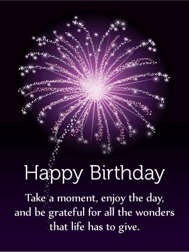 Enjoy The Day Happy Birthday Card Birthday Amp Greeting Cards By Davia