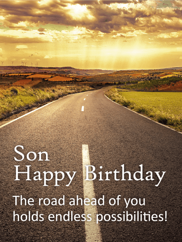 The Road Of Life Happy Birthday Card For Son Birthday