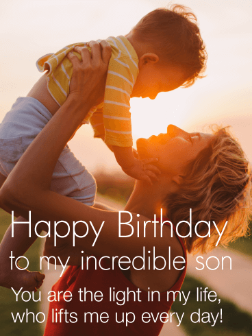 You Are The Light In My Life Happy Birthday Wishes Card