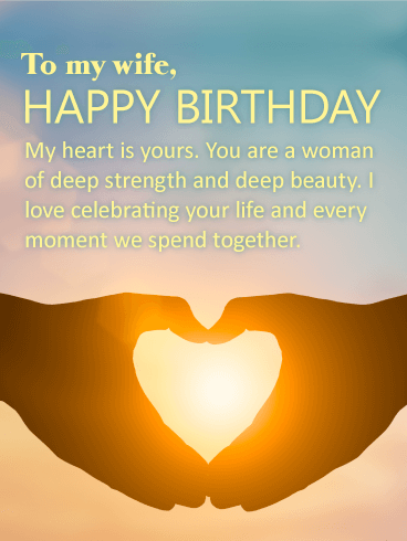 You Have Deep Beauty Happy Birthday Card For Wife Birthday Amp Greeting Cards By Davia