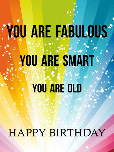 Fabulous Smart And Funny Birthday Card Birthday