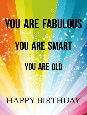 Fabulous Smart And Funny Birthday Card Birthday