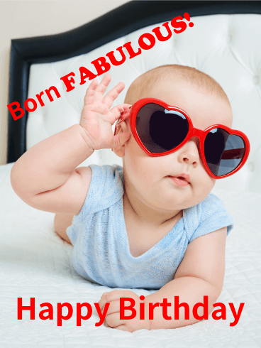 Born Fabulous! Funny Birthday Card Birthday & Greeting