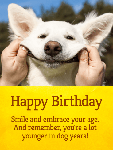 Let's Smile! Funny Birthday Card Birthday & Greeting