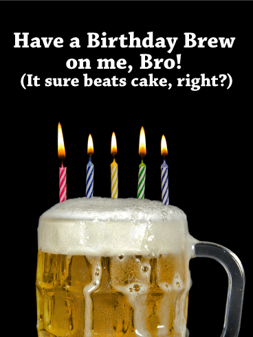 Its On Me Bro Funny Birthday Card Birthday Amp Greeting Cards By Davia