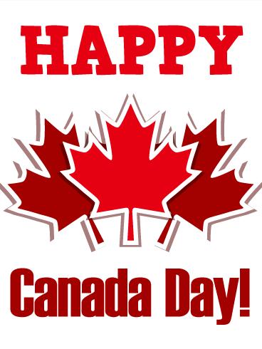Canada Day Maple Leaf Card Birthday Amp Greeting Cards By