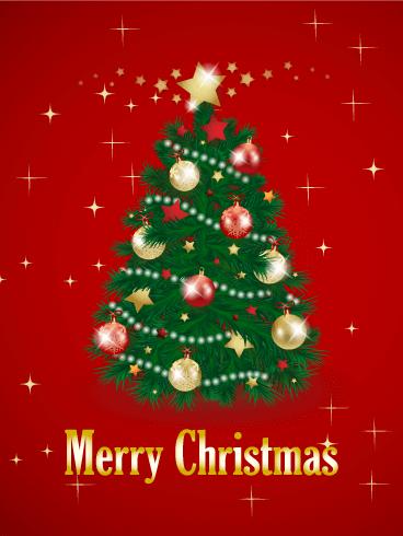 Christmas Tree Card Birthday & Greeting Cards By Davia