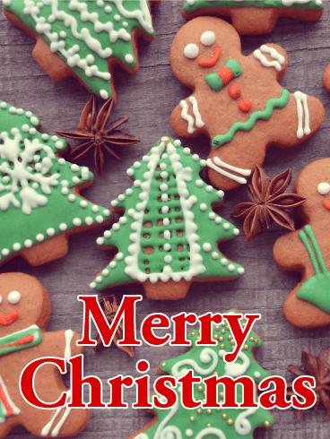 Gingerbread Man Christmas Card Birthday Amp Greeting Cards