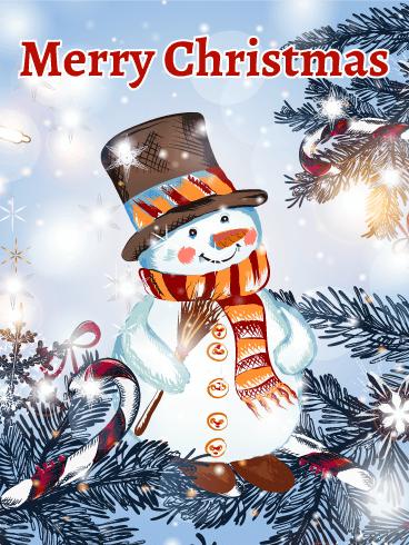Classic Shinning Snowman Christmas Card Birthday Amp Greeting Cards By Davia