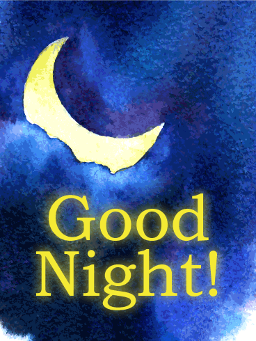 Moon Light Good Night Wish Card Birthday & Greeting