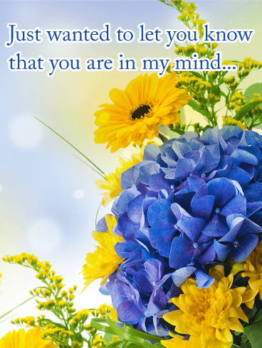 You Are In My Mind Thinking Of You Card Birthday