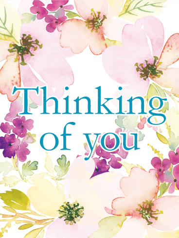 flowery thinking of card
