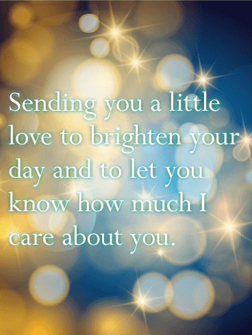 Sending You A Little Love Thinking Of You Card
