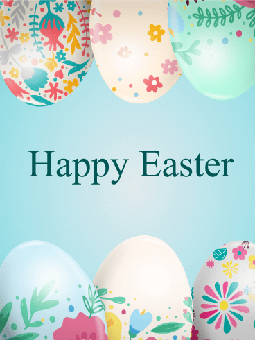 Flower Patterned Easter Egg Card Birthday Amp Greeting Cards By Davia
