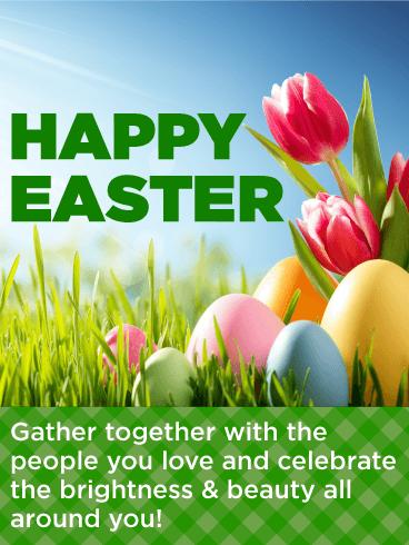 Celebrate Brightness Amp Beauty Happy Easter Card