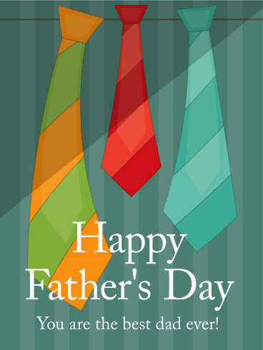 Colorful Tie Fathers Day Card Birthday Amp Greeting Cards