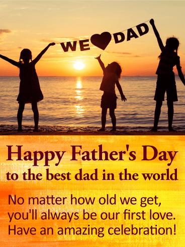 We Love Dad! Happy Father's Day Card Birthday & Greeting