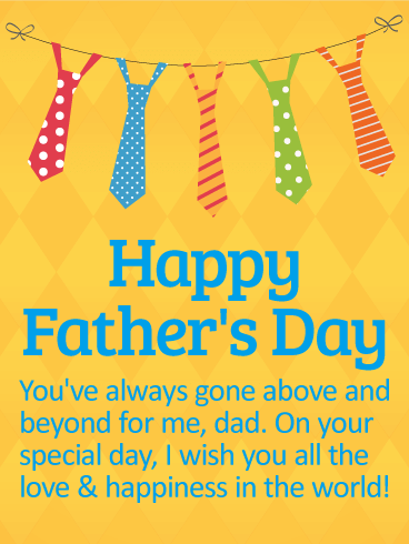Wishing You Love And Happiness Happy Father's Day Card