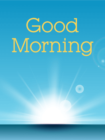 Good Morning Sunshine Card Birthday & Greeting Cards By