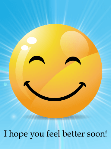 Big Smiley Face Get Well Card Birthday & Greeting Cards