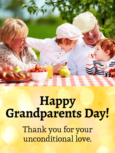 Happy Moments! Grandparents Day Card Birthday & Greeting