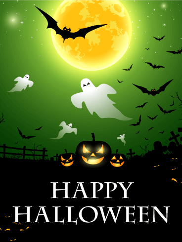 Scary Night Halloween Card Birthday & Greeting Cards By