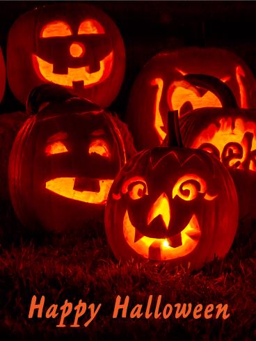 Pumpkin Lantern Happy Halloween Card Birthday Amp Greeting