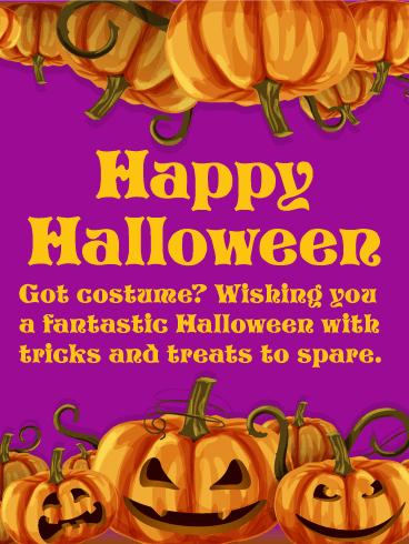 Got Costume Happy Halloween Card Birthday Amp Greeting