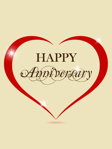 Elegant Anniversary Card Birthday & Greeting Cards By Davia