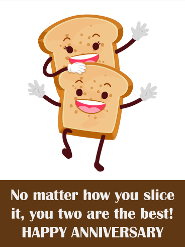 To the Best Toast Couple  Funny Anniversary Couple  Birthday  Greeting Cards by Davia