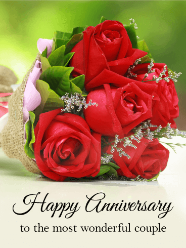 To The Most Wonderful Couple Happy Anniversary Card Birthday Amp Greeting Cards By Davia