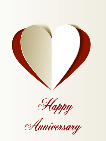 Lovely Happy Anniversary Card Birthday & Greeting Cards