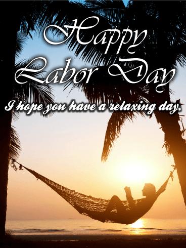 Nice Amp Chillin Day Happy Labor Day Card Birthday