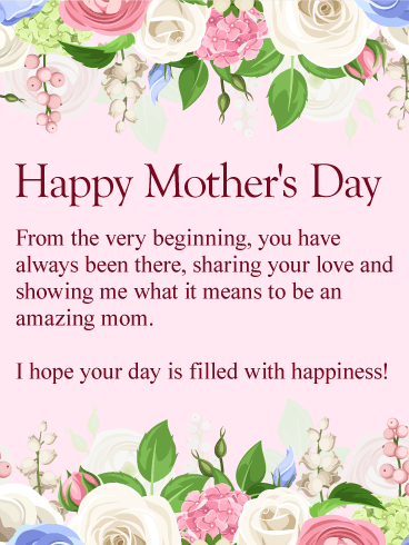 To My Amazing Mom Happy Mothers Day Card Birthday Amp Greeting Cards By Davia