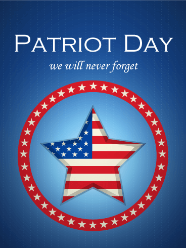 Never Forget Patriot Day Card Birthday Amp Greeting
