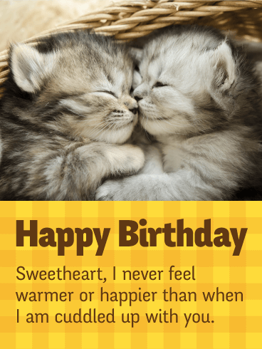 I Love Cuddling Up With You Happy Birthday Card