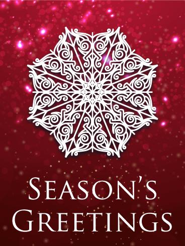 Snowflake Season's Greeting Card Birthday & Greeting