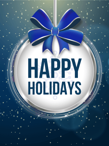 Happy Holidays Ornament Card Birthday & Greeting Cards