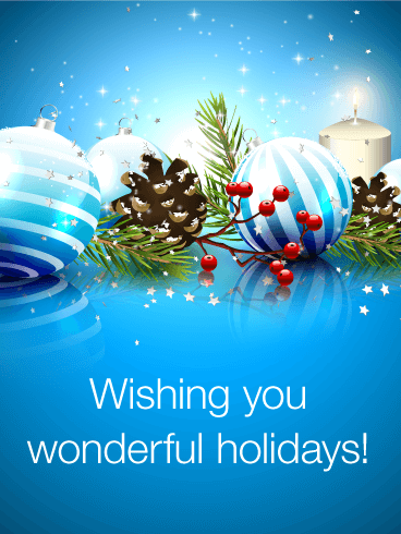 Wish You Have Happy Holidays Season's Greetings Card