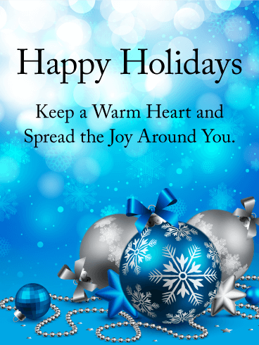Spread The Joy Around You Happy Holidays Card Birthday