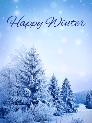 It's Snowing! Winter Card Birthday & Greeting Cards By Davia