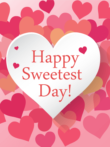 Sweetest Day Lovely Heart Card Birthday & Greeting Cards