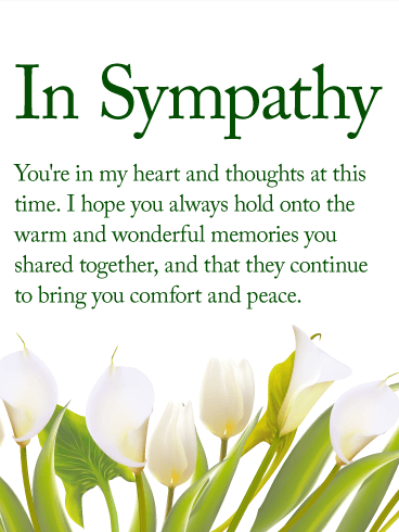 You Are In My Heart Sympathy Card Birthday & Greeting
