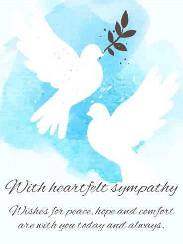 For Peaceful Days Sympathy Card Birthday & Greeting