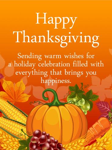 Heartfelt Thanksgiving Card Birthday Amp Greeting Cards By Davia