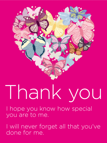To My Special Someone Thank You Card Birthday